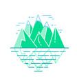 icon of mountains in a linear vector image vector image