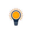 idea sun logo icon design vector image
