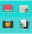 internet online security digital tech icon vector image