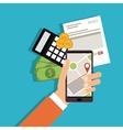 Invoice design Money icon Colorful vector image