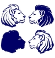 lion icon sketch collection cartoon vector image