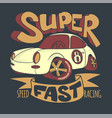 little super car t-shirt design and other uses vector image vector image