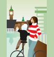 looking at the city vector image