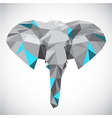 Low polygonal elephant head in popular style vector image