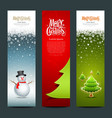 Merry christmas banner design set vector | Price: 1 Credit (USD $1)