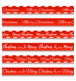 merry christmas banners set warning tapes vector image