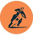 motocross badge desig vector image