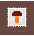 Mushroom stamp Harvest Thanksgiving vector image vector image