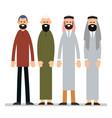 Muslim man group muslim or arab man stand in the