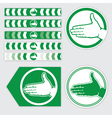 palm sign vector image vector image