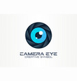photo camera eye digital vision creative symbol vector image vector image