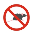 Prohibition sign mouse icon flat style vector image vector image