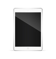 Realistic tablet pc computer with blank screen vector image vector image