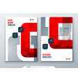 red catalog design a4 cover template for brochure vector image vector image