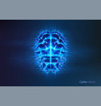robot or cyber brain human mind with circuit vector image