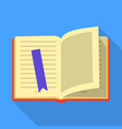 school book icon flat style vector image vector image