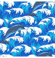 sea and dolphins pattern vector image vector image