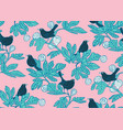 seamless pattern background with cute birds vector image vector image