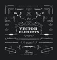 set of vintage retro linear thin line art deco vector image vector image