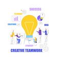 team work idea planning solutions success strategy vector image