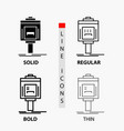 valet parking service hotel valley icon in thin vector image