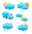 web and glass weather symbols set vector image vector image