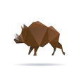Wild boar abstract isolatedon a white backgrounds vector image vector image