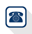 contact flat icon vector image