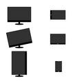 lcd screen set technology definition art vector image