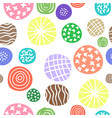 polka dots doodle seamless pattern vector image