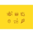 Line art food icons vector image