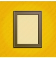 Wooden frame template vector image