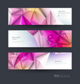 abstract molecules banner set vector image vector image