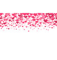 background with falling hearts vector image vector image