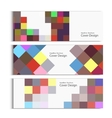 Banner template design with squares and rectangles vector image vector image