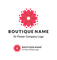 Beautiful Logo with Flower for Boutique or Beauty vector image vector image