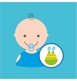 big boat toy baby icon vector image