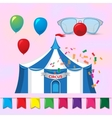 Big Top Circus Tents with decorative elements vector image vector image