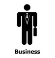business icon simple style vector image