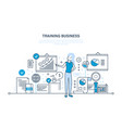 business training consulting learning teaching vector image vector image