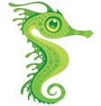 cartoon seahorse vector image vector image