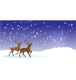 Christmas banner with reindeers vector image vector image