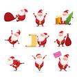christmas symbols funny cute santa different vector image vector image