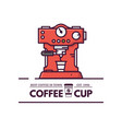 coffee machine line style vector image vector image