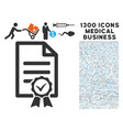 contract document icon with 1300 medical business vector image vector image