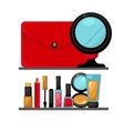 Cosmetics and fashion make up objects vector image vector image