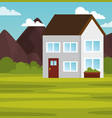 country house landscape design vector image vector image