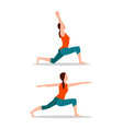 crescent lunges mountain up vector image vector image