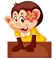 cute female monkey character vector image