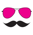 Cute Handdrawn Glasses and a Mustache vector image
